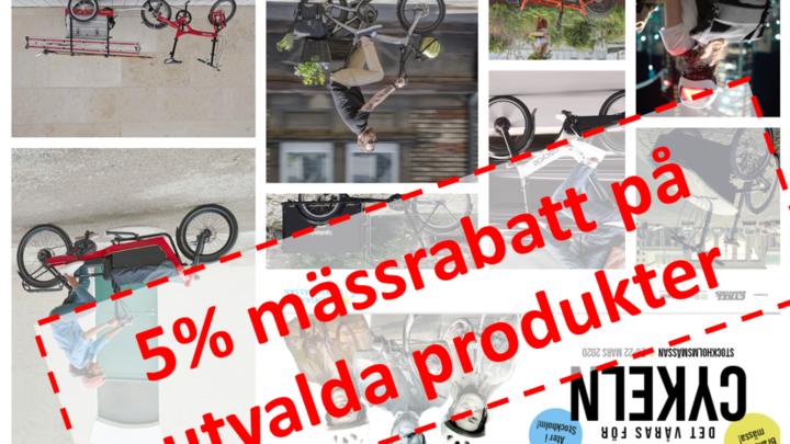 Cykelmässan 2020 5% mässrabatt istället